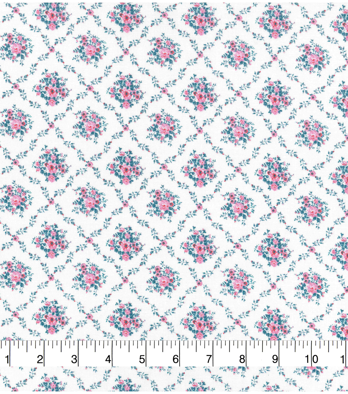 Keepsake Calico Cotton Fabric 43\u0022-White Diamond Ditsy Floral