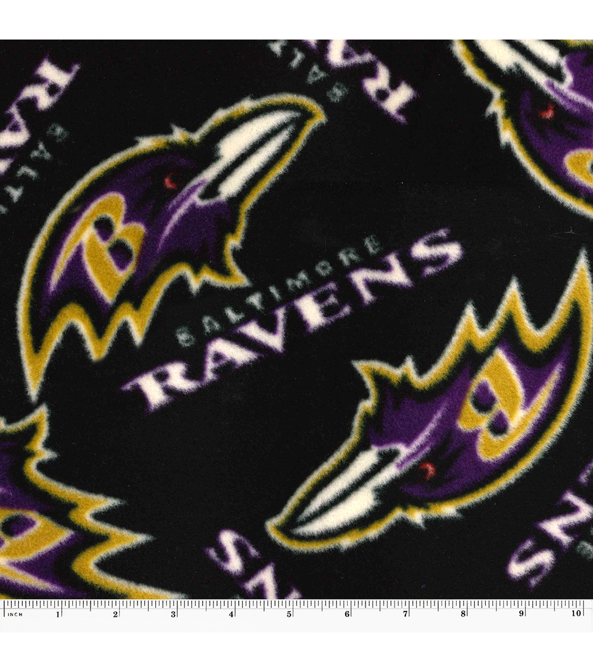 Baltimore Ravens Fleece Fabric -Logo
