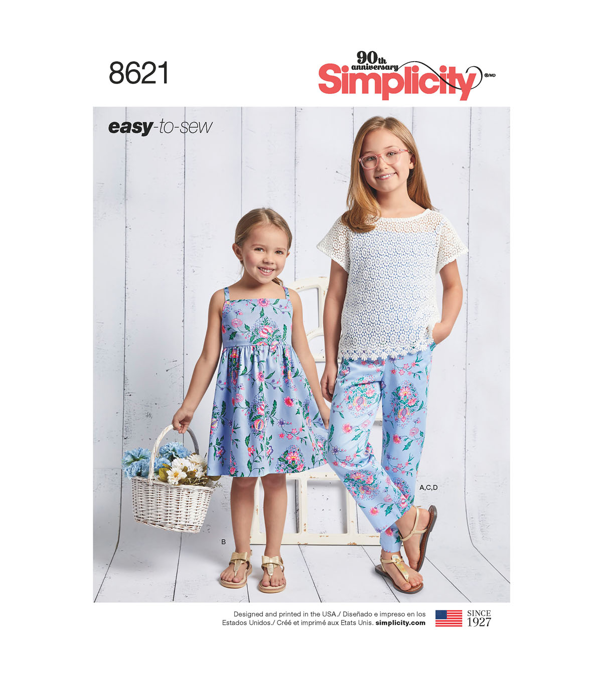 Simplicity Pattern 8621 Girls\u0027 Apparel-Size K5 (7-8-10-12-14)