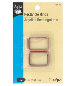 Dritz 1\u0022 Rectangle Rings-Copper