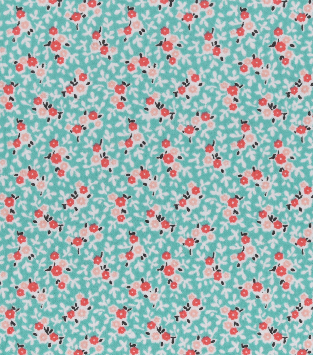 Snuggle Flannel Fabric 42\u0022-Mint Ditsy Floral