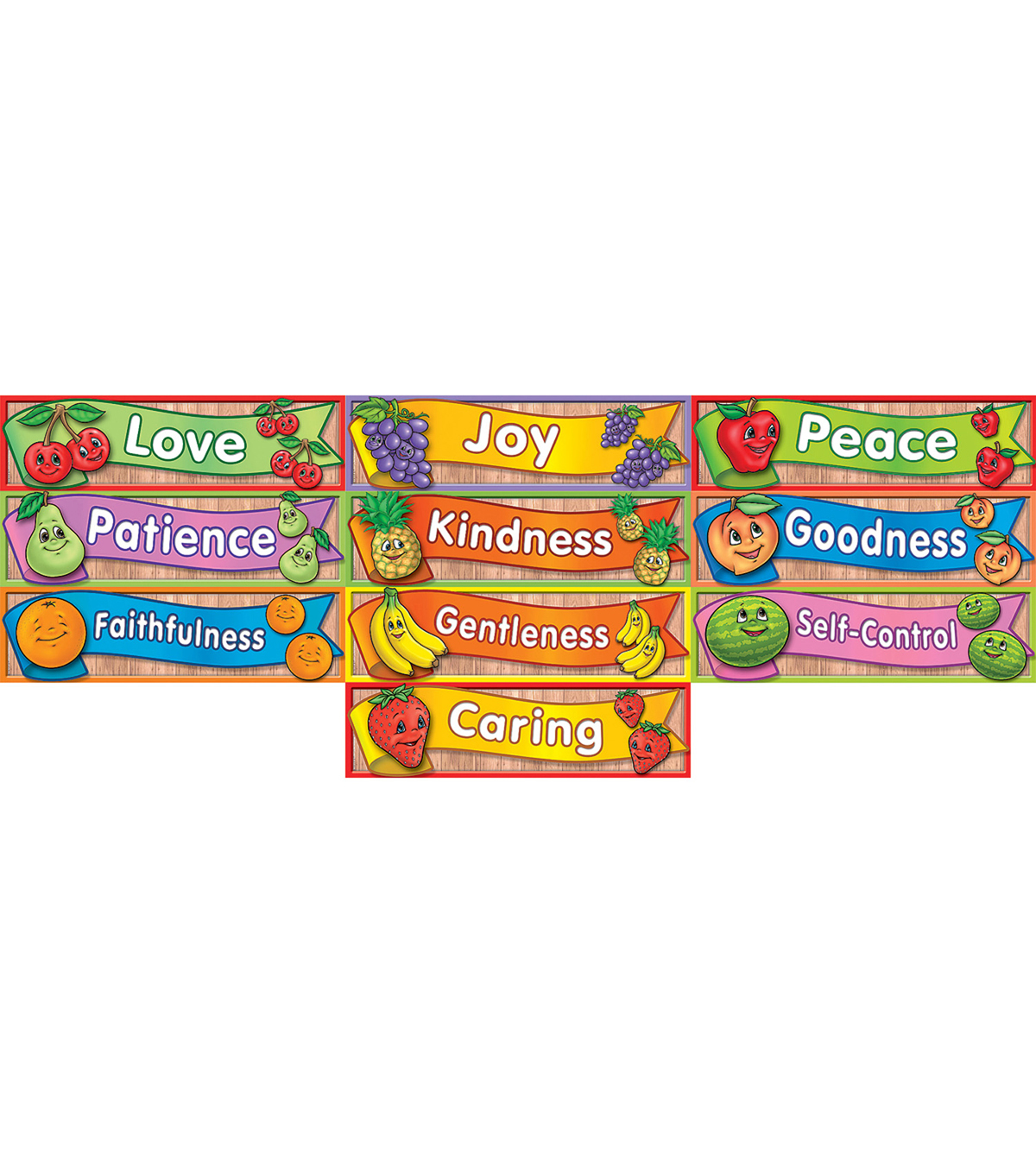 Headliners Fruit Of The Spirit 10/pk,  Set Of 6 Packs