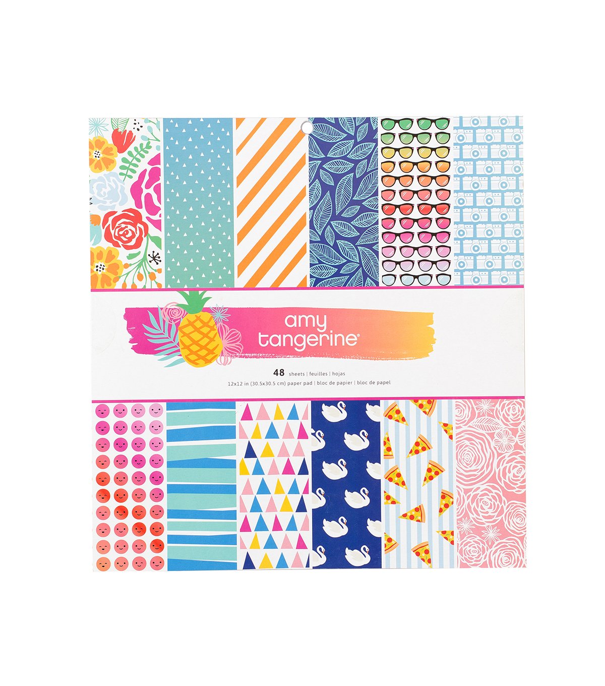4561f08bad1 American Crafts Amy Tangerine On a Whim Pack of 48 12  x12   Paper ...
