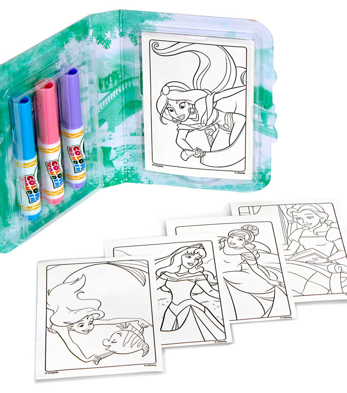 Crayola Color Wonder On The Go Coloring Kit-Disney Princess