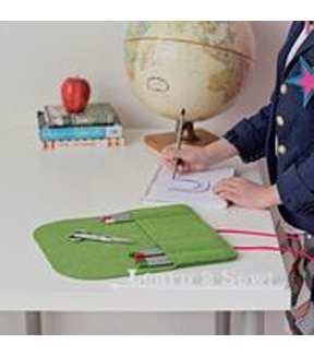 Beginner Sewing Kit Green Pencil Holder