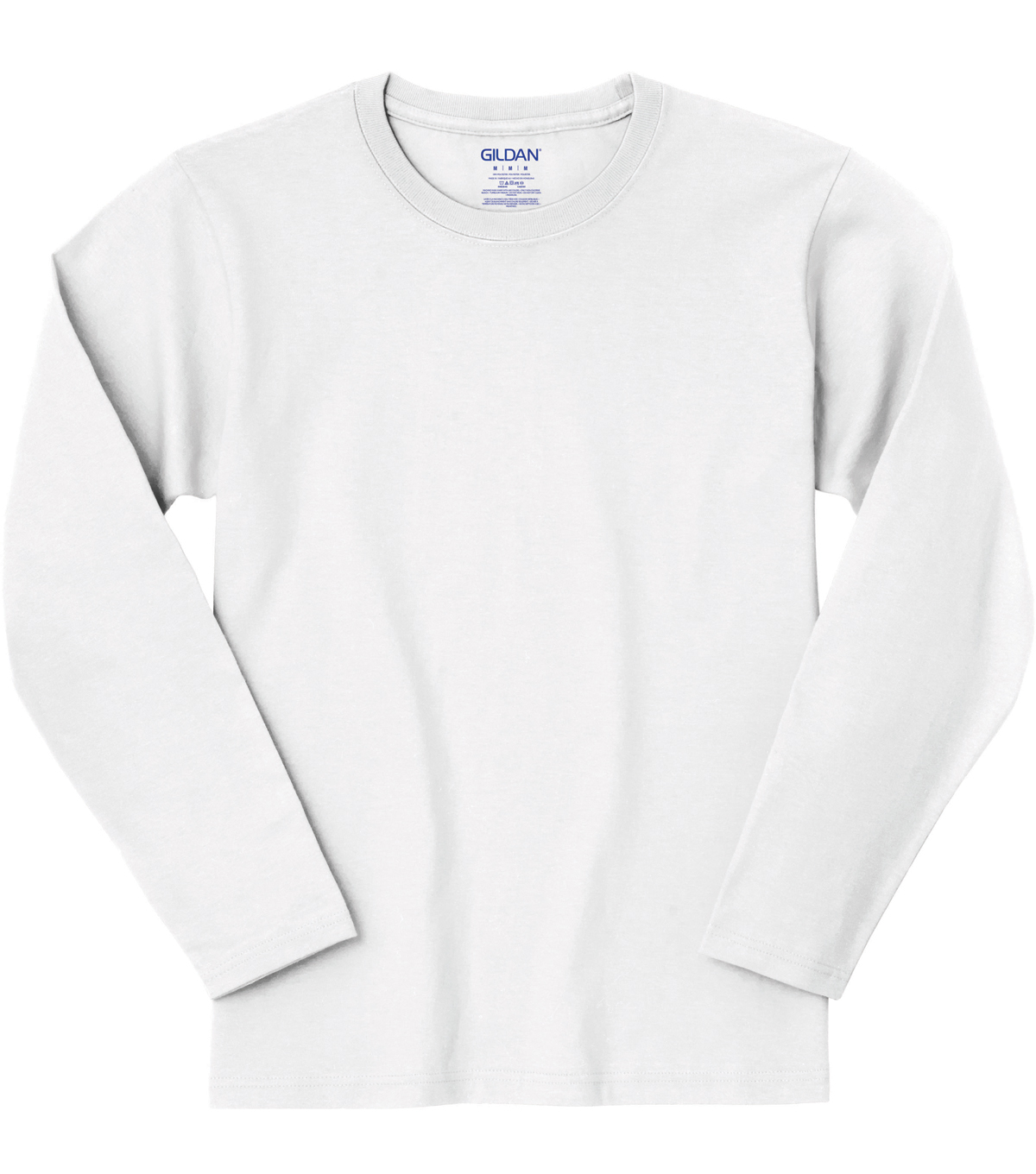 Gildan Small Youth Long Sleeve T-shirt, White