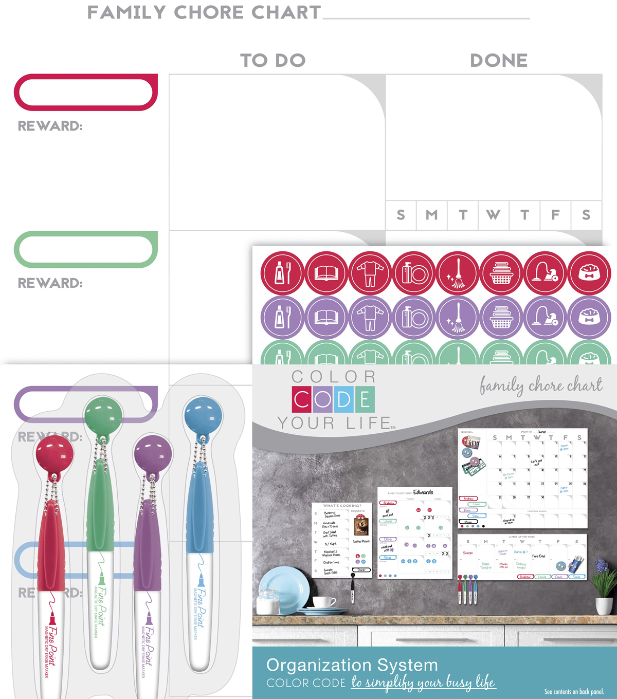 The board dudes color code your life dry erase family chore chart the board dudes color code your life dry erase family chore chart nvjuhfo Choice Image