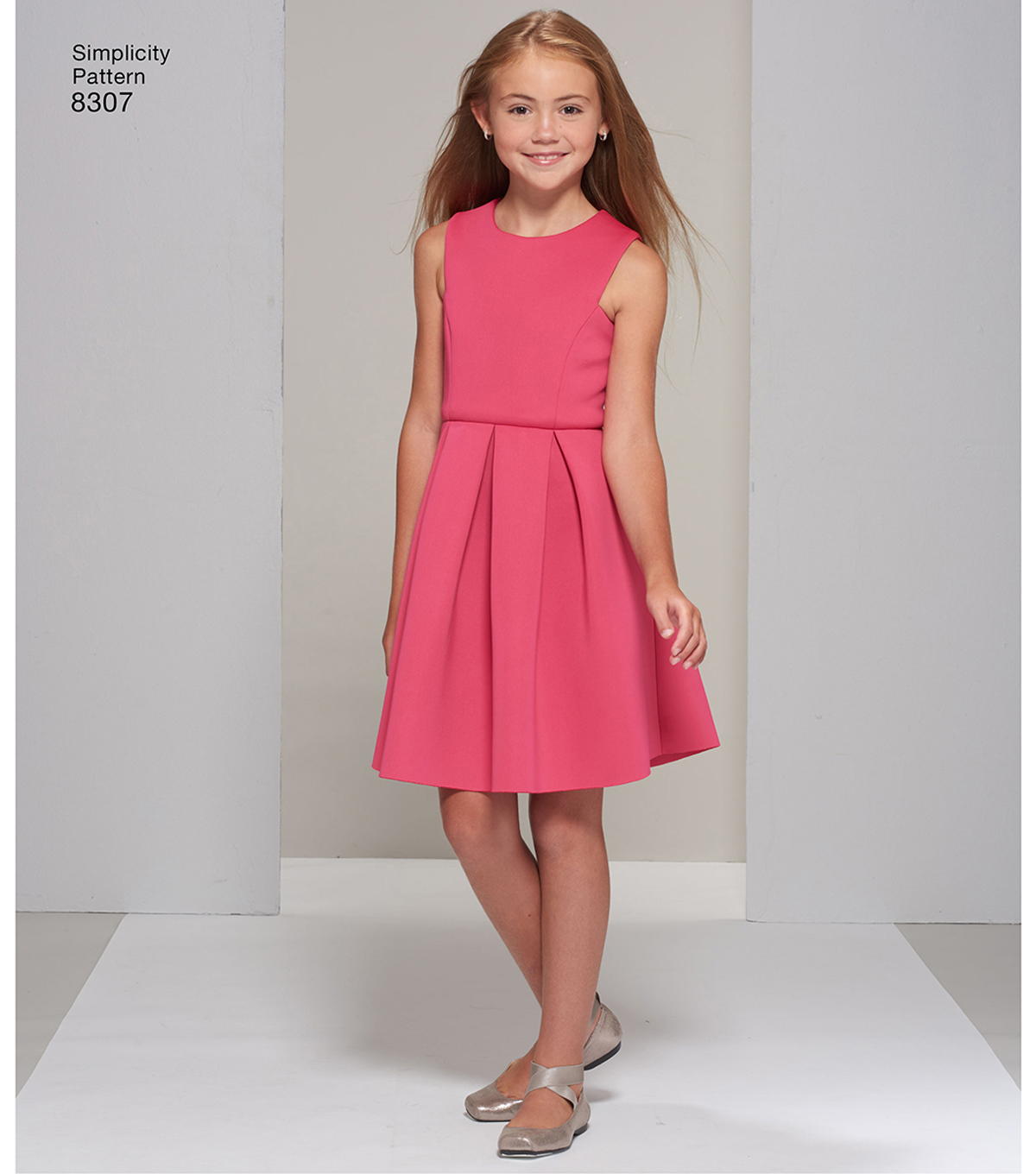 Simplicity Pattern 8307 Girls\u0027 & Girl Plus Dress-Size AA (8-16)