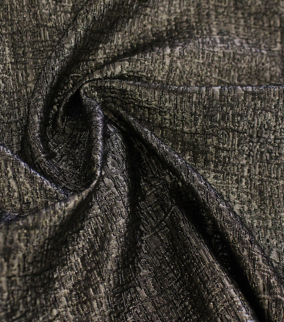 Metallic Textured Jaquard Fabric 53\u0022-Gold With Black