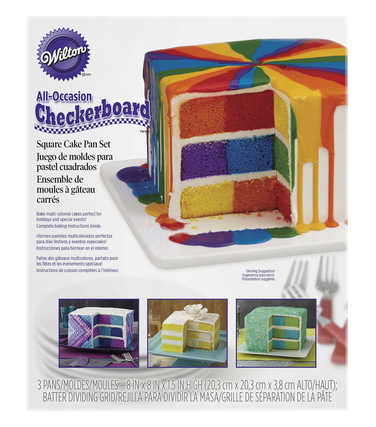 Wilton Cake Pan Set-Square Checkerboard