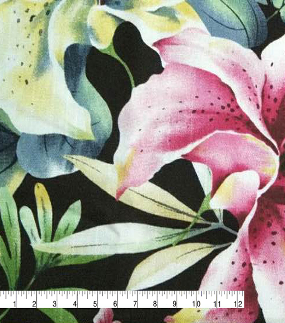 Amaretto Linen Fabric -Tropical Floral