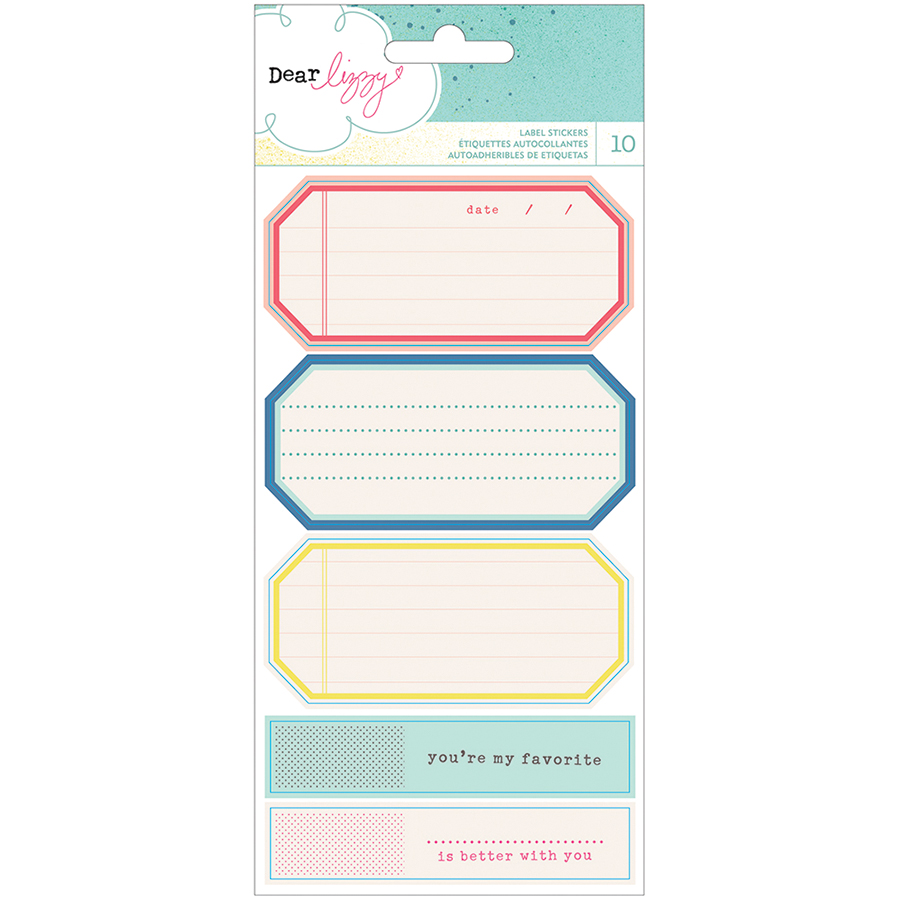 American Crafts Polka Dot Party Cardstock Stickers Labels