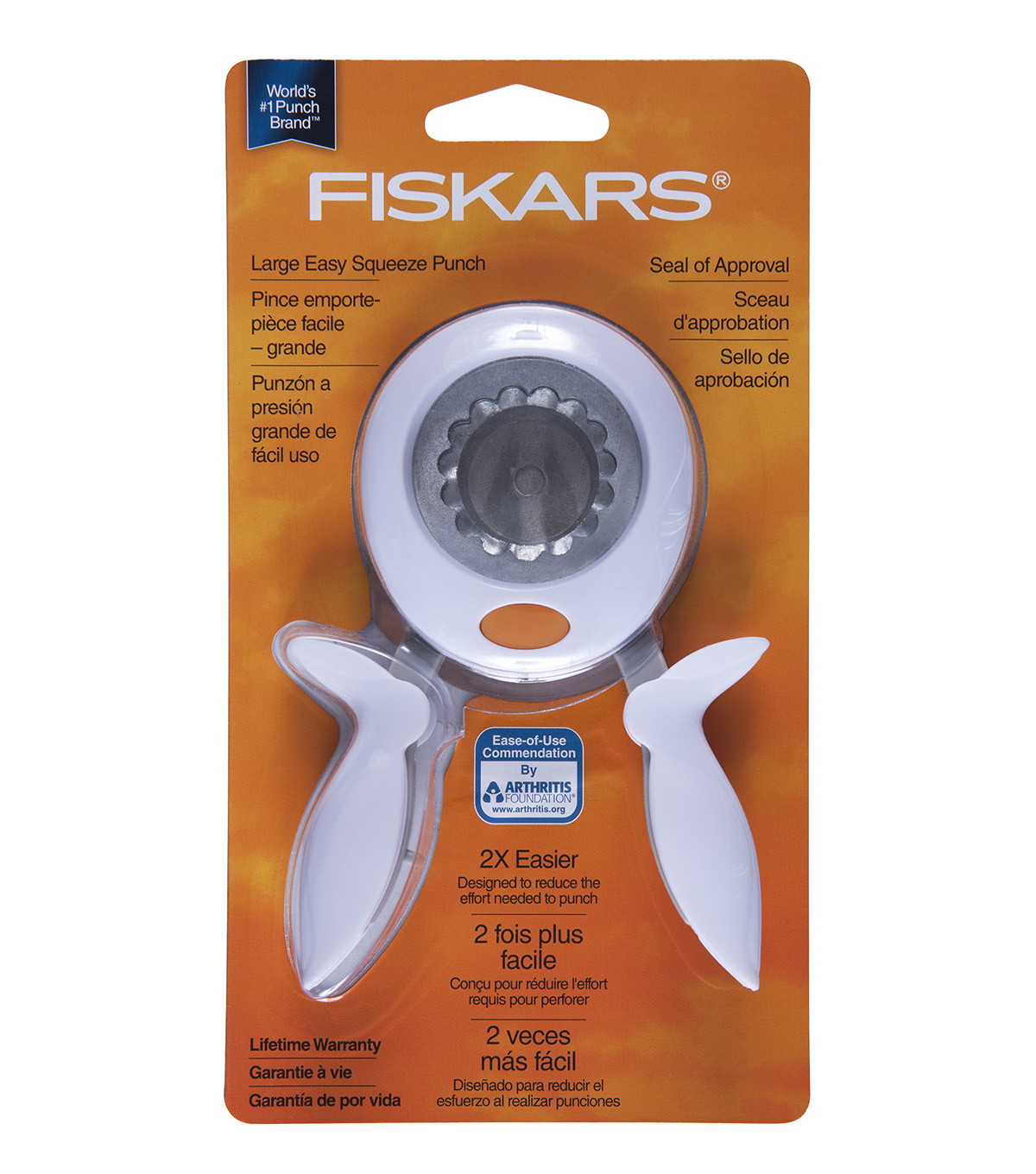 Fiskars Large Squeeze Punch-1PK/Seal Of Approval