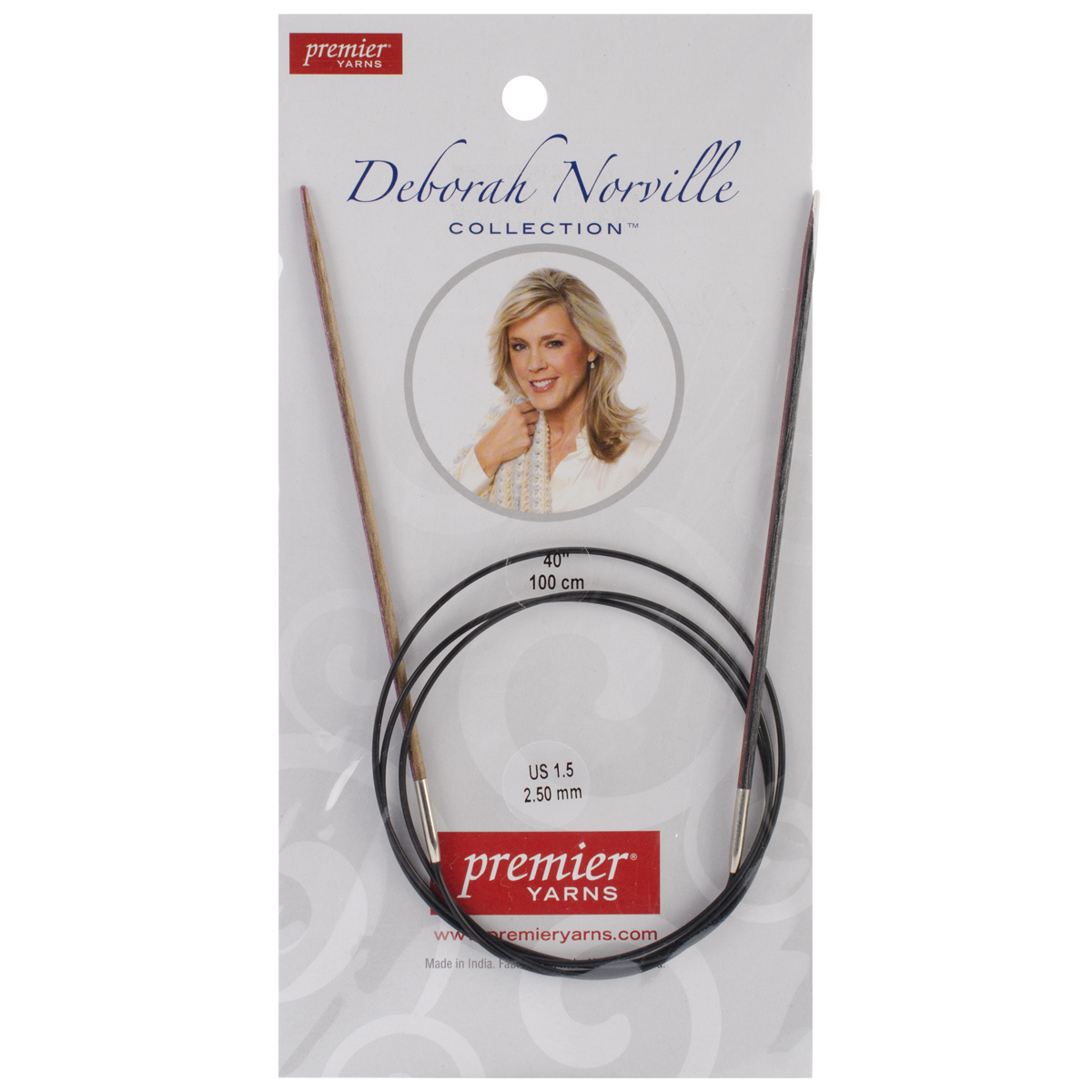Premier Yarns Fixed Circular Needles 40\u0022 Size 1.5/2.5mm
