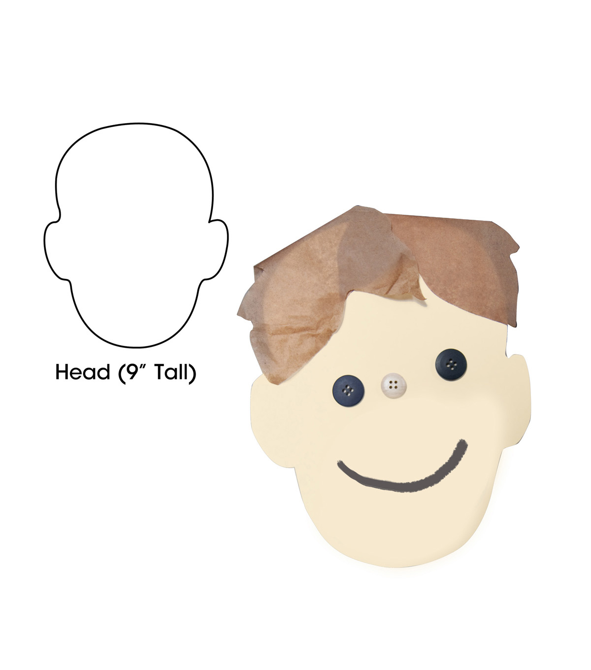 Big Cut Outs 9in Head Shape 25/pk, Set of 4 Packs