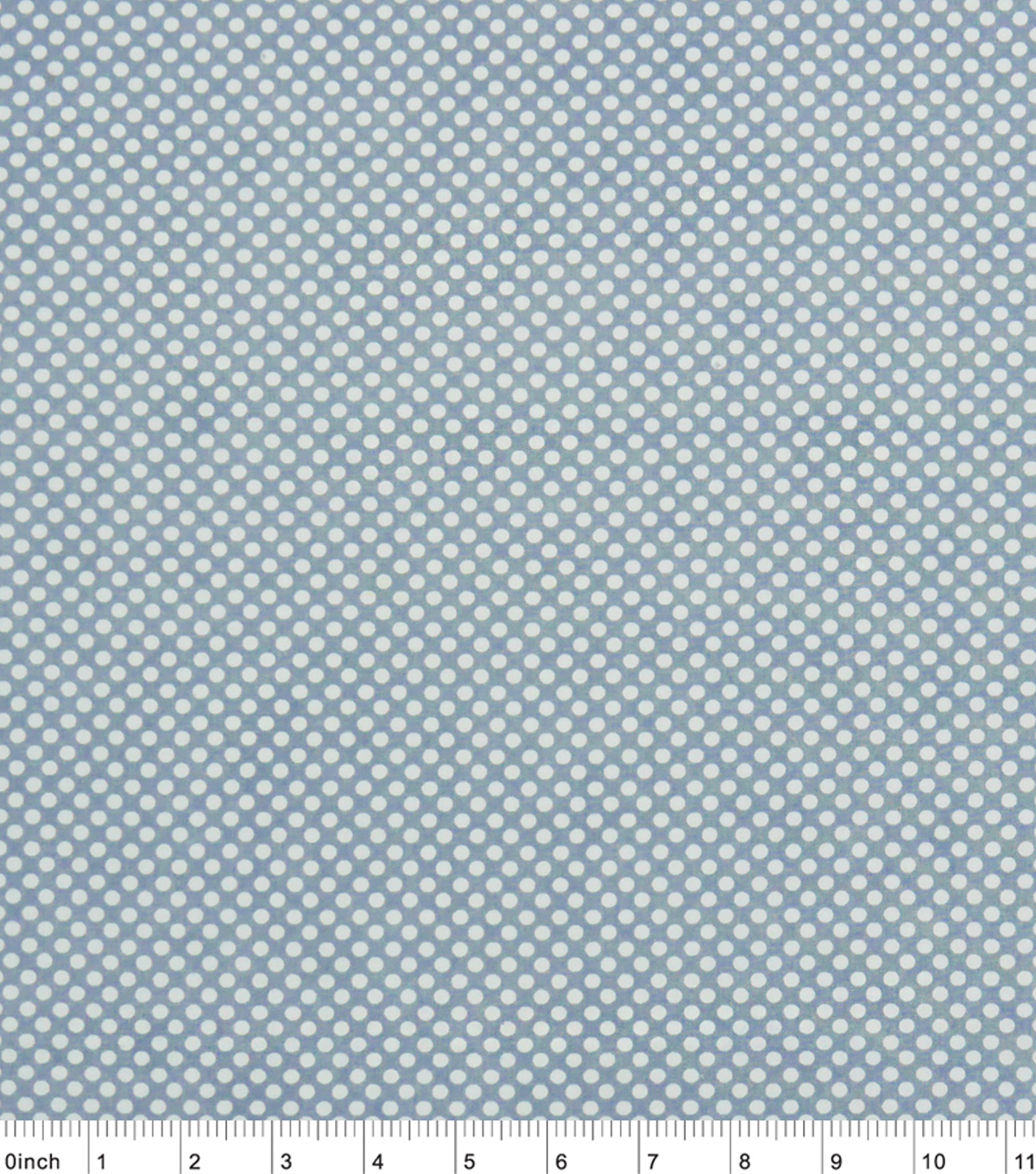 Nursery Cotton Fabric -Grey With White Dots
