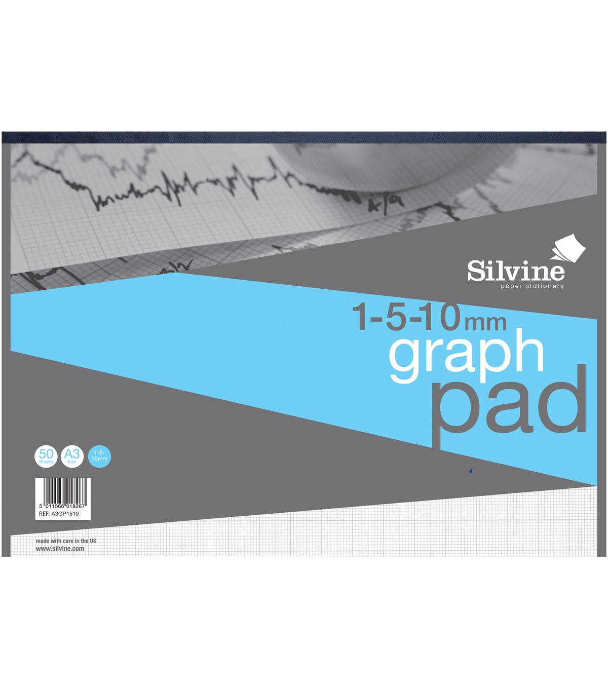 Silvine 50-sheet A3 Graph Pad