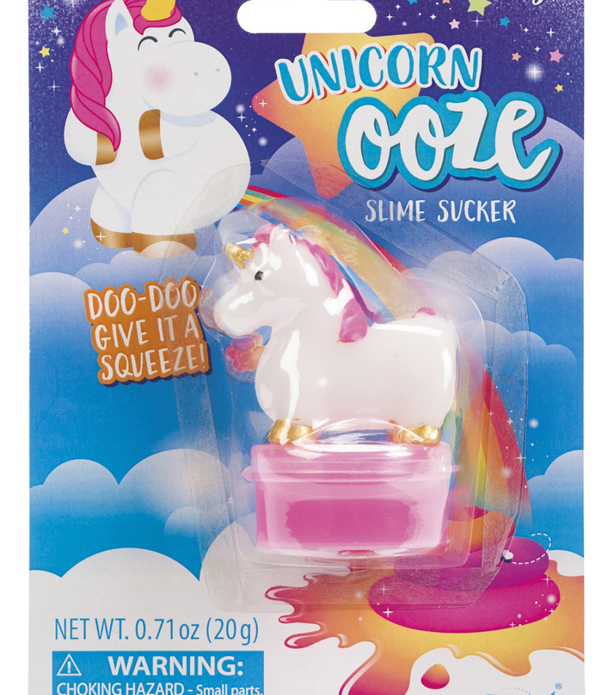 Toysmith 0.71 oz. Pooping Unicorn Ooze Slime Sucker