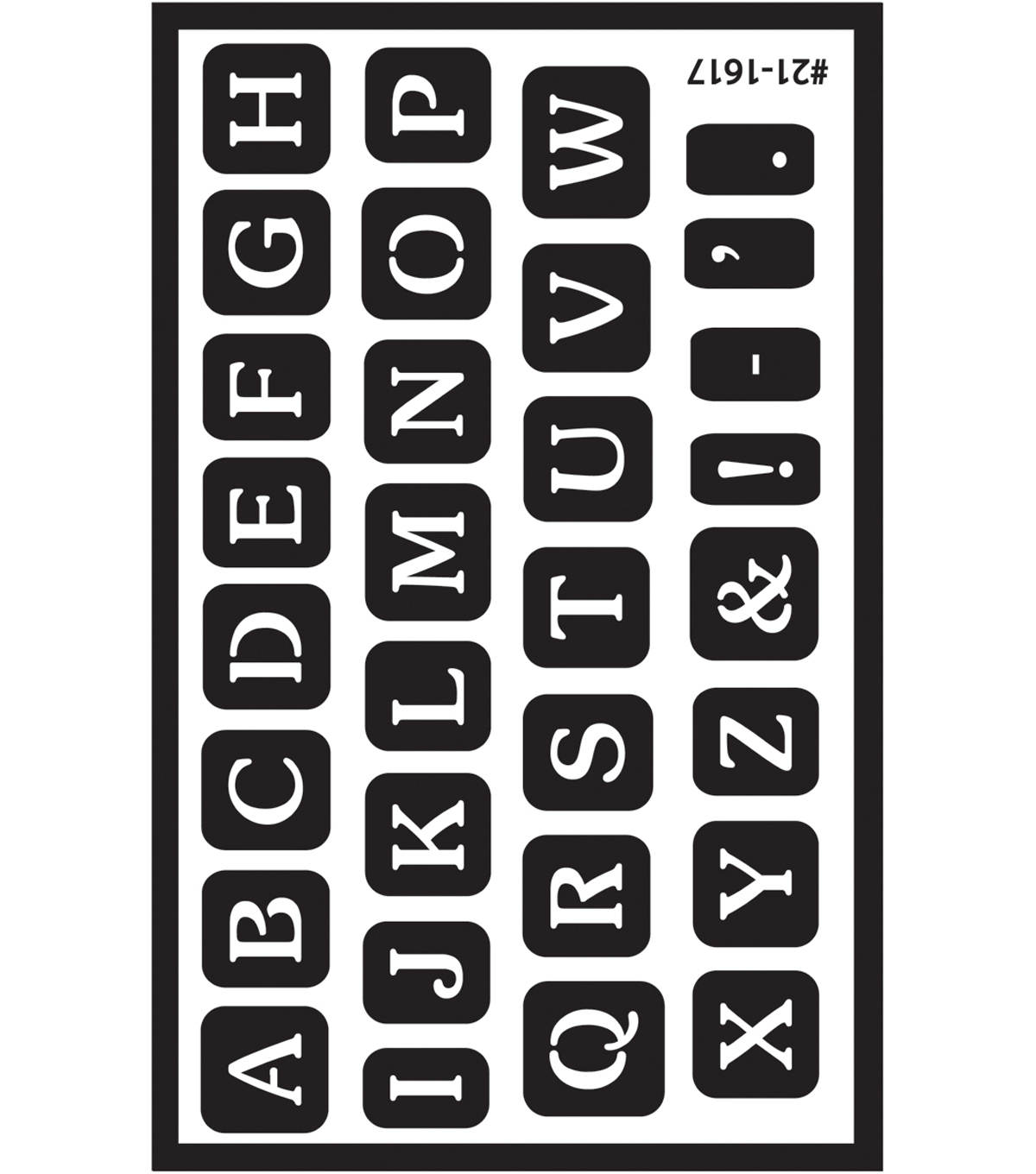 Armour Products Over \u0027n\u0027 Over Reusable Stencil-Alphabet in Wedding Font