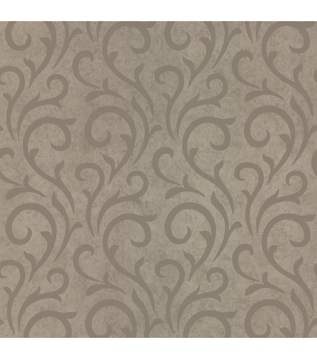 Ophelia Taupe Scroll Wallpaper Sample
