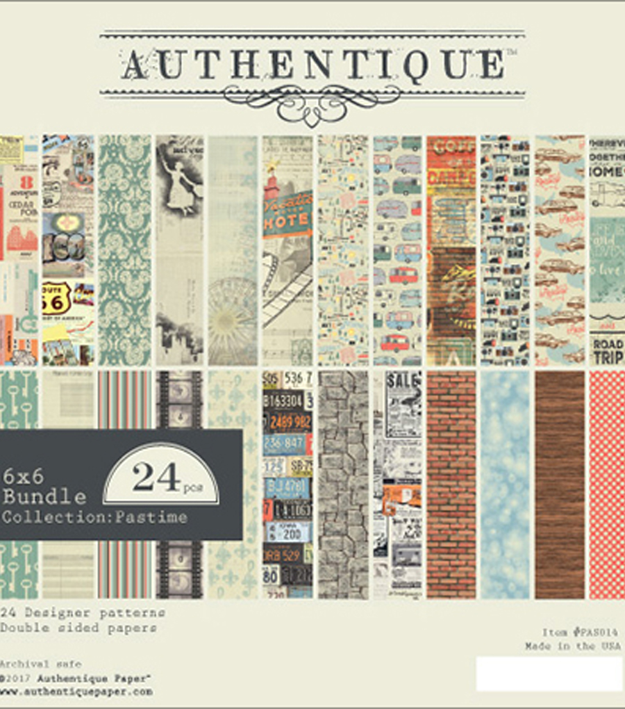 Authentique Paper Pastime 24 Sheets 6\u0027\u0027x6\u0027\u0027 Double-Sided Cardstock