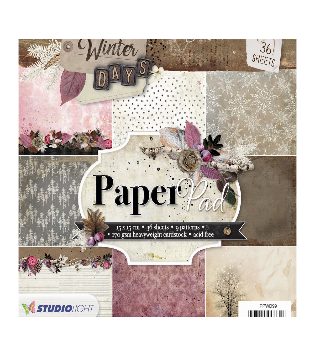 Studio Light Paper Pad 6\u0022X6\u0022 36/Pkg-Winter Days