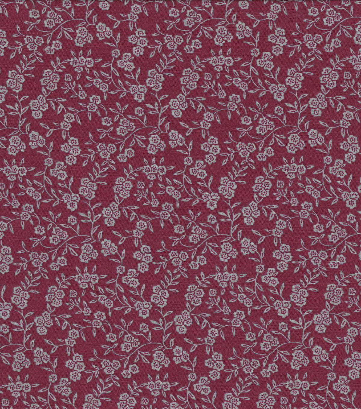 Quilter\u0027s Showcase Cotton Fabric-Delicate Floral on Burgundy