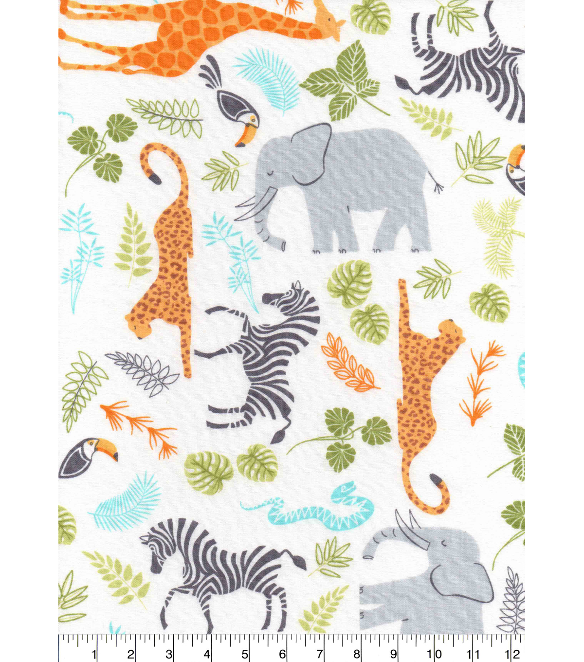 Nursery Cotton Fabric -Jungle