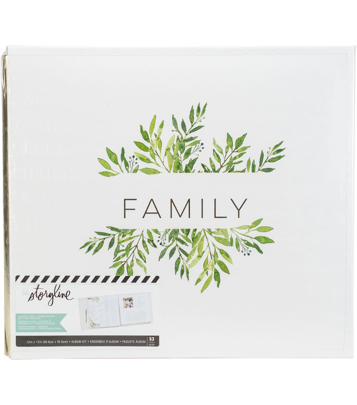 Heidi Swapp Storyline2 Post Bound Album-Family
