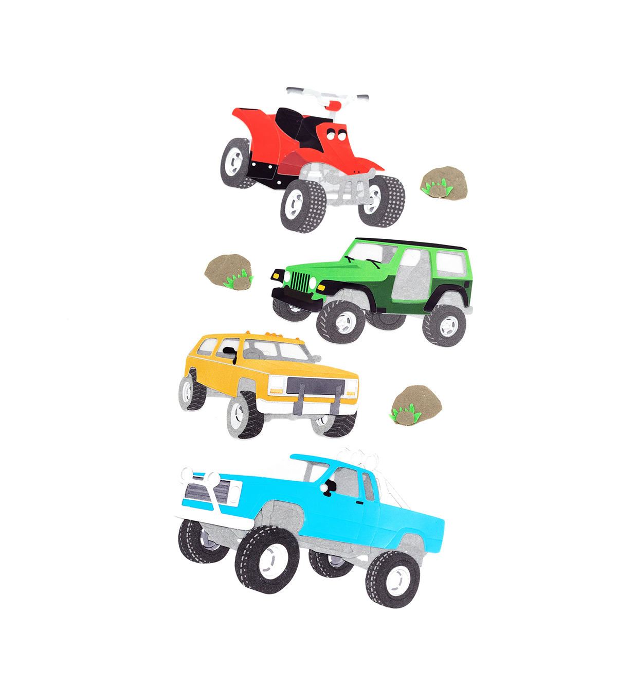 American Crafts Stickers-Off Roading