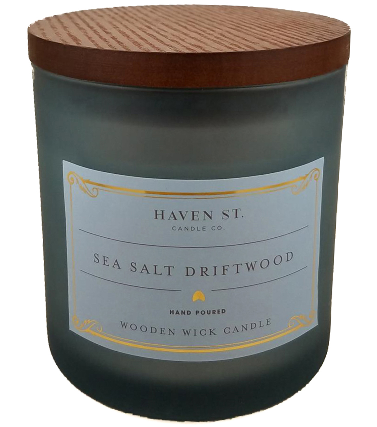 Haven St. 12oz Wooden Wick Jar Candle-Sea Salt Driftwood