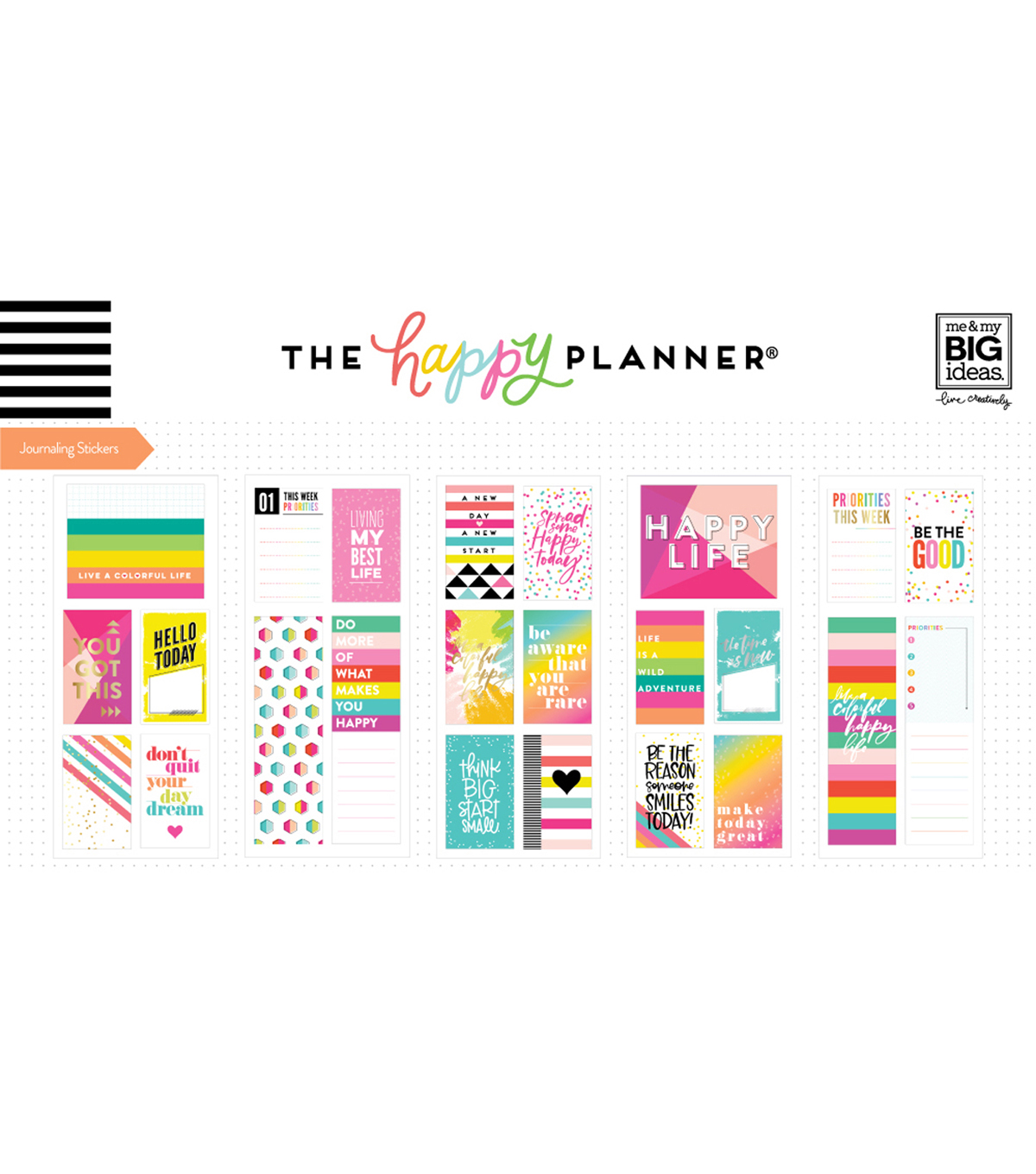 The Happy Planner 24 pk Journaling Stickers-Brights