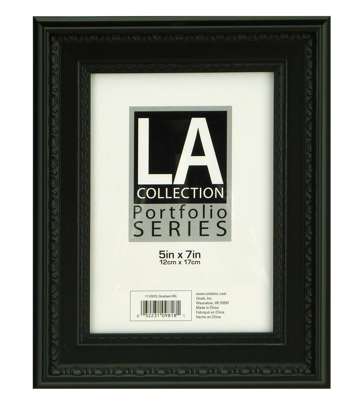 LA Goodwin Tabletop Frame 5X7-Black
