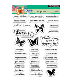 Penny Black Clear Stamps 5\u0022X7\u0022-Snippets