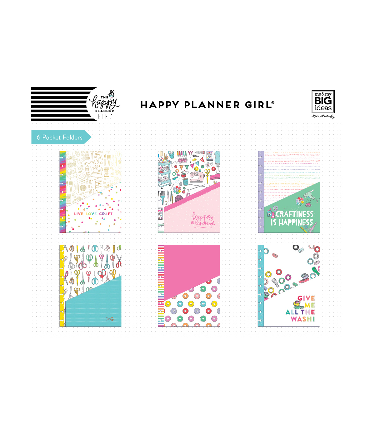 The Happy Planner Girl Classic Pocket Folders-Miss Maker