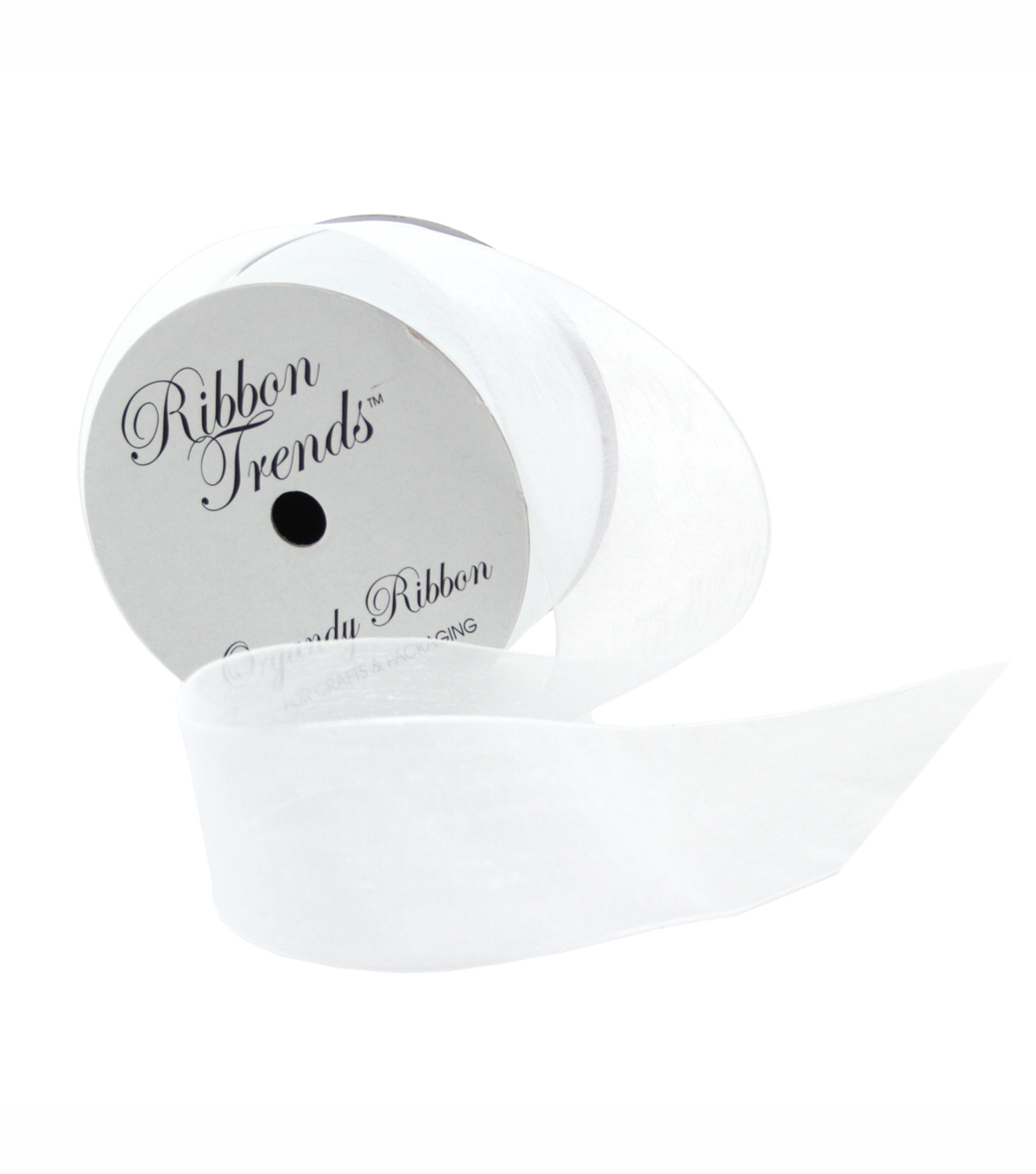 Ribbon Trends Organdy Ribbon 1/2\u0027\u0027-White Solid