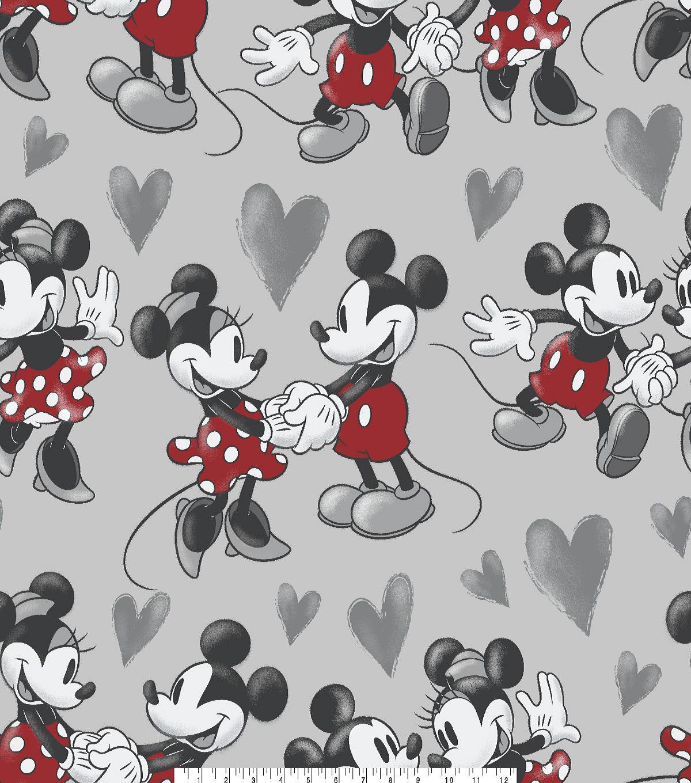 Disney Mickey Minnie Mouse Fleece Fabric 59 Vintage Fun Joann