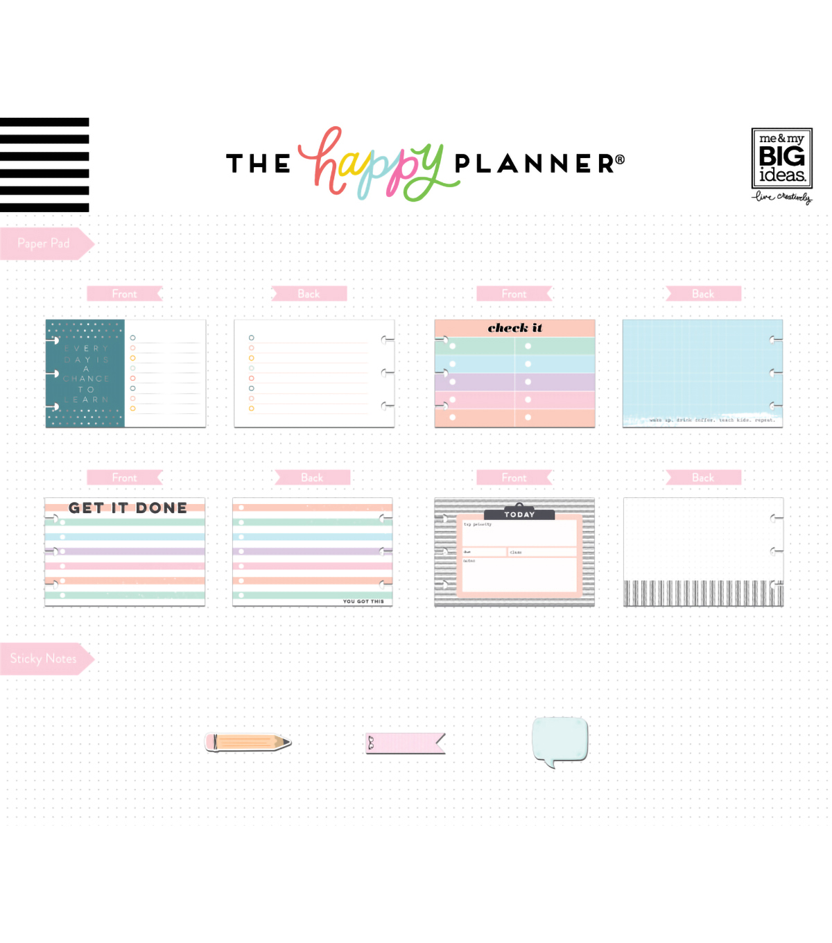 The Happy Planner Multi Accessory Pack-Pastel Teacher