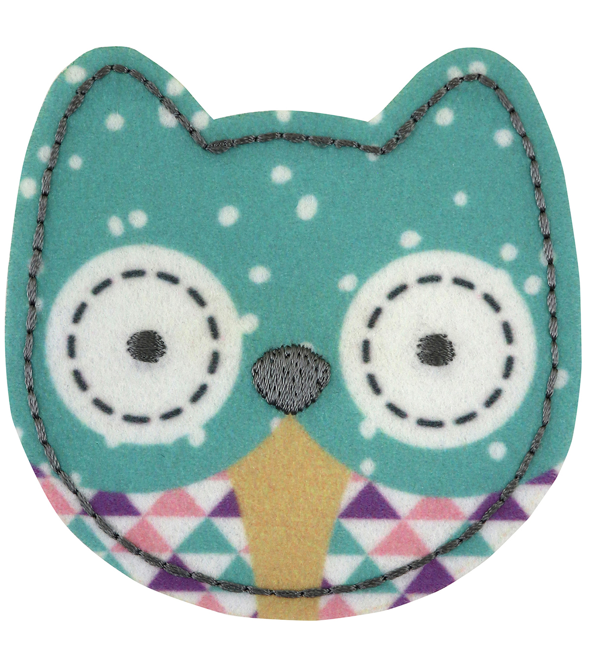 Simplicity Owl Felt Iron-on Applique Patch