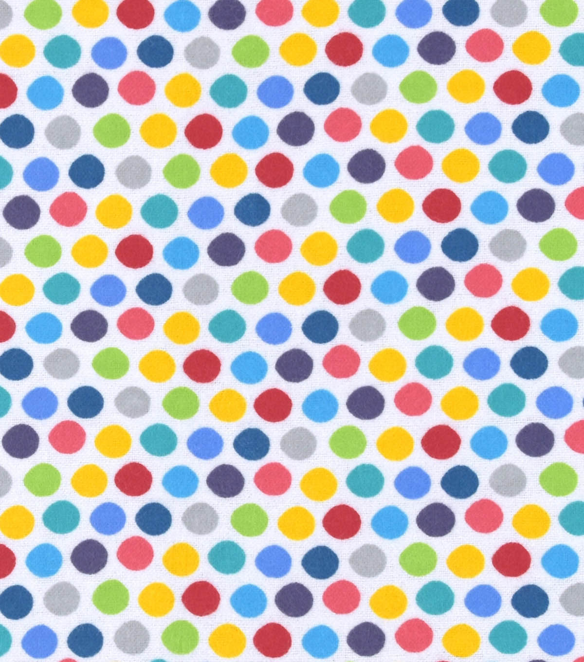 Nursery Flannel Fabric -Roadway Dots