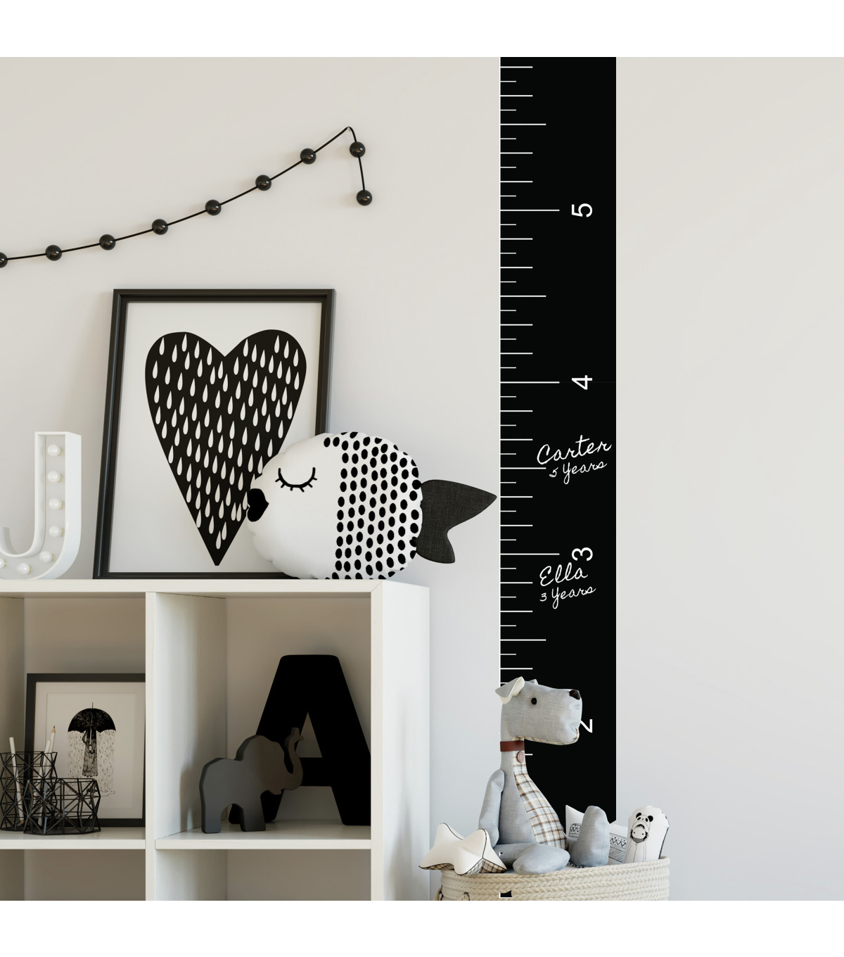 York Wallcoverings Wall Decals-Growth Chart Chalk Ruler