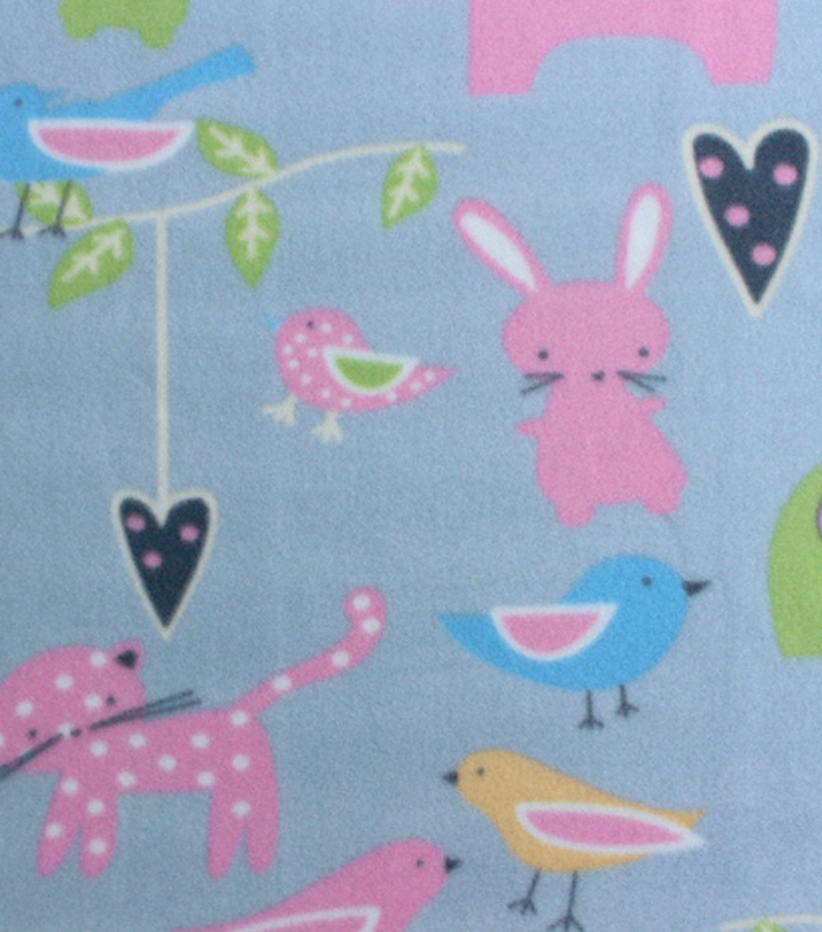 Blizzard Fleece Fabric 59\u0022-Polka Dot Animals