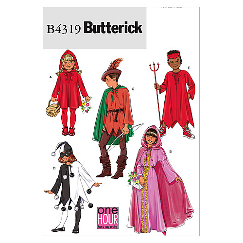 Butterick Pattern B4319 Children\u0027s Costumes