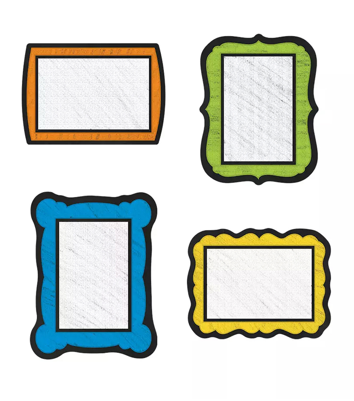 Colorful Chalkboard Colrful Cut Outs 36/pk, Set Of 6 Packs