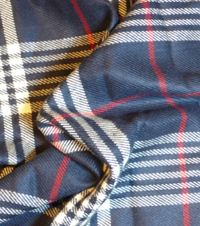 Perfectly Plaid Acrylic Fabric 54\u0022-Blue & Red