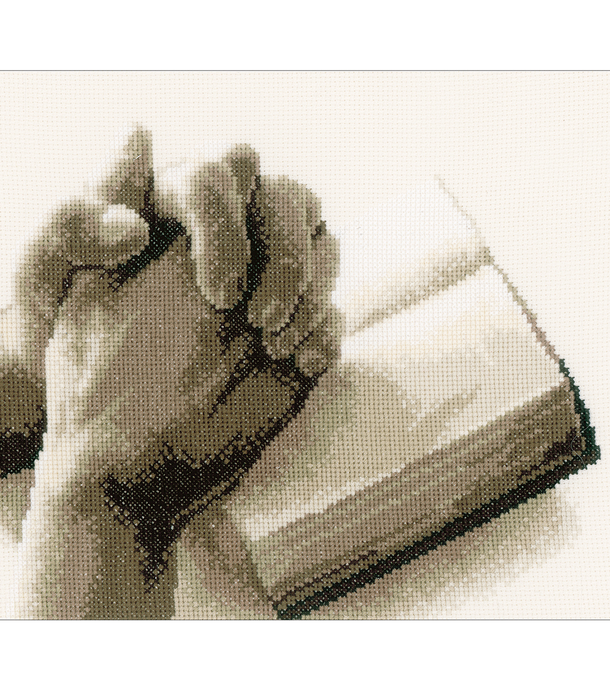 Vervaco 10.8\u0027\u0027x8.8\u0027\u0027 Aida Counted Cross Stitch Kit-Praying Hands