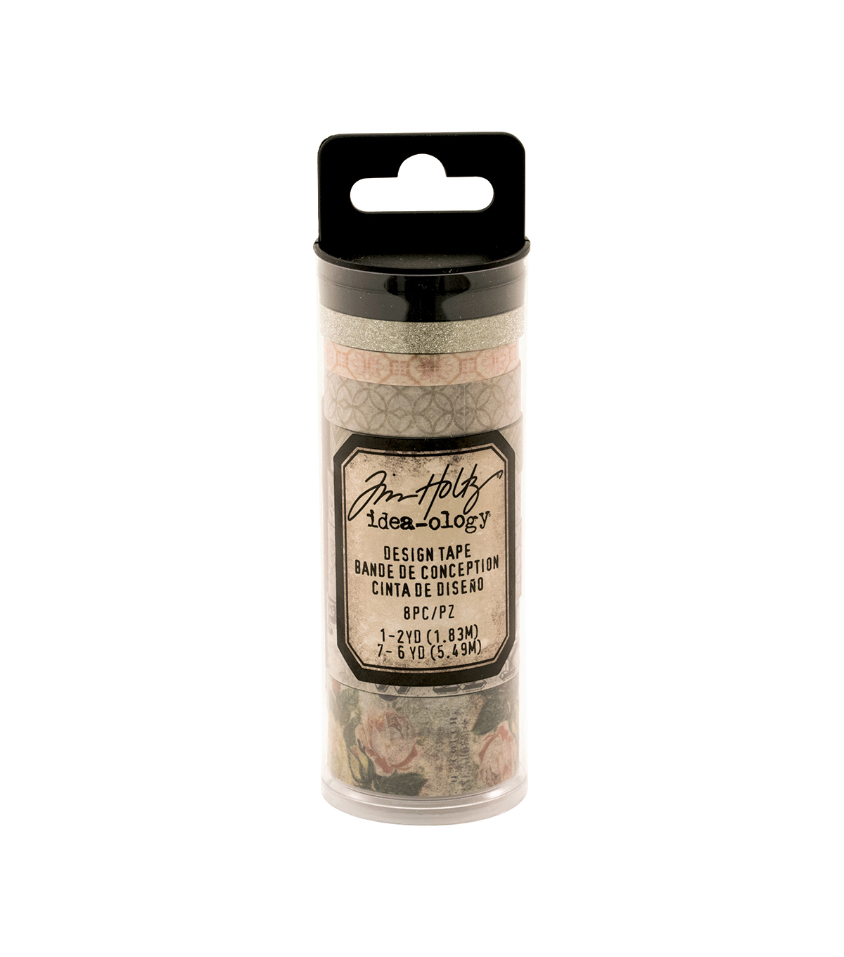 Tim Holtz Idea-ology Pack of 8 Design Tape-Rose