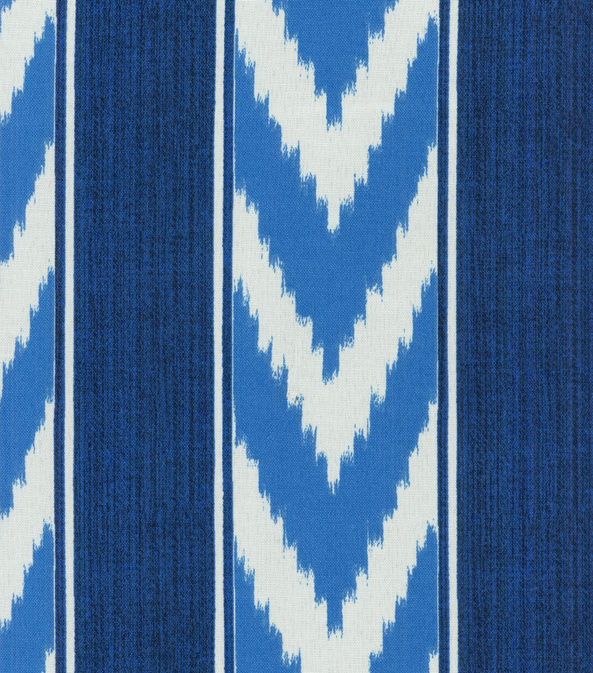 Outdoor Fabric-Ikat Stripe Cornflower