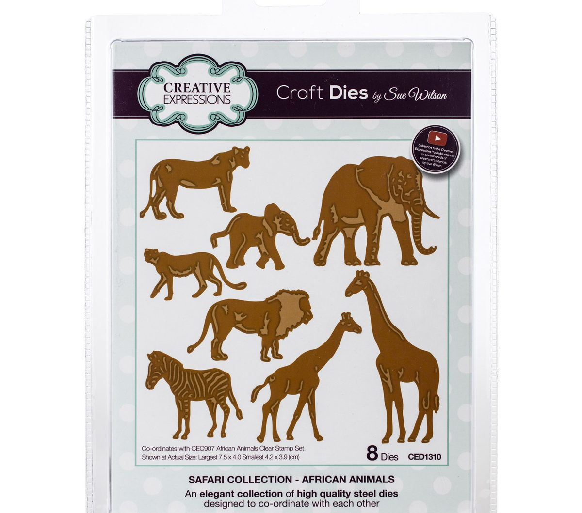Craft Dies By Sue Wilson-Safari Collection-African Animals