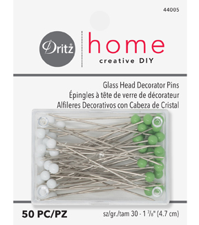 Dritz Home Glasshead Pins